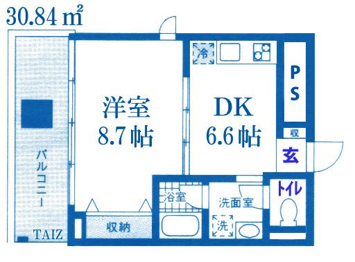 ■物件番号4973 人気物件「OHANA茅ヶ崎」入荷!広い1DKタイプ!4階カド!海2分!サーファーおすすめ!