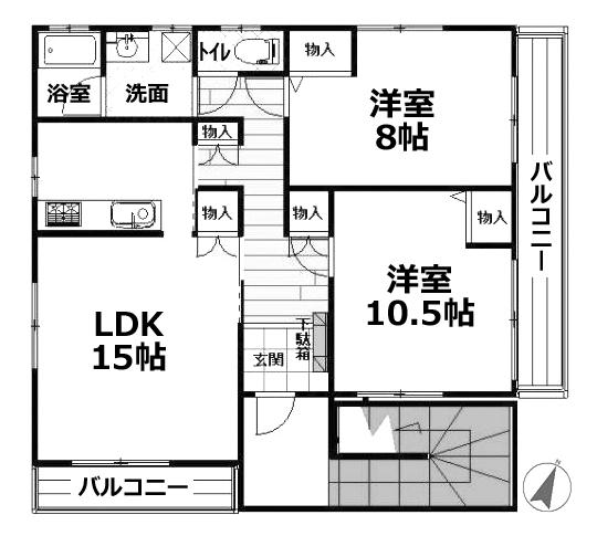 ■物件番号4192 ★即決物件!駅3分!2LDK!74平米!マンション!最上階隣室なし!P無料1台付11.8万円!