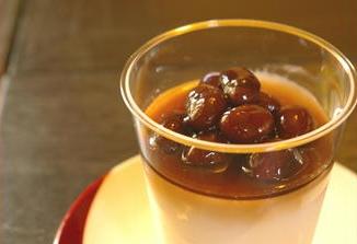 2015-9-25黒豆紅茶煮杏仁豆腐