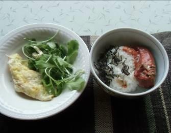 魚入り朝食
