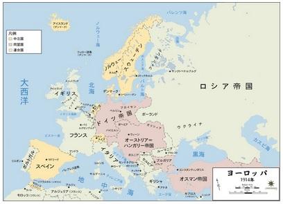 2015-9-14第一次大戦の同盟国の図