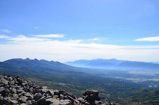 蓼科山より八ヶ岳全景 (1)