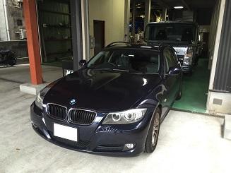 BMW320 車高調持ち込み交換♪