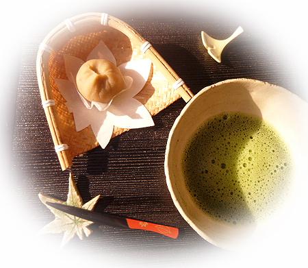 栗茶巾 & 抹茶
