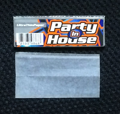 Party_in_House パーティー・イン・ハウス 手巻きタバコ 巻紙 ローリングペーパー 薄紙 スローバーニング