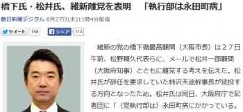 news橋下氏・松井氏、維新離党を表明 「執行部は永田町病」