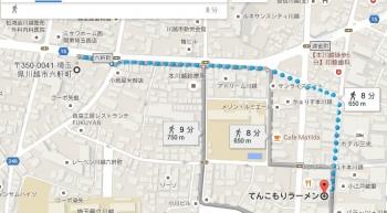 map埼玉県川越市六軒町
