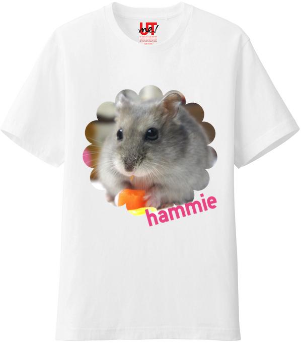 ハムスターTシャツ花2