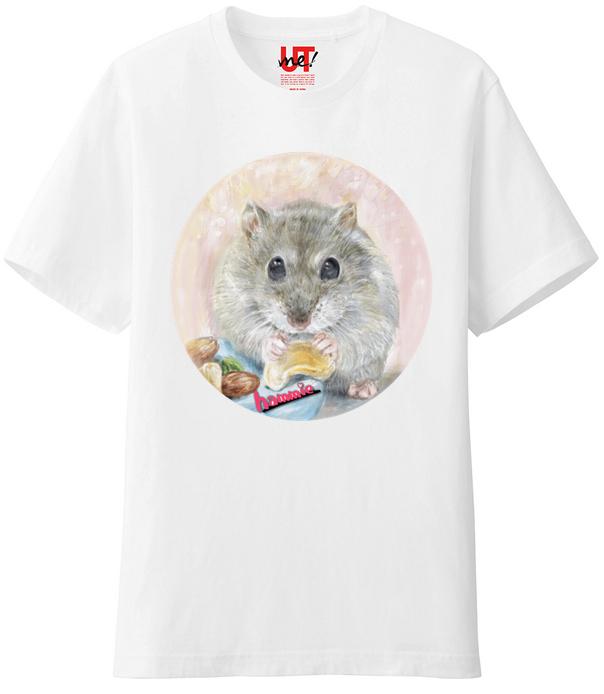 ハムスターイラストTシャツ2