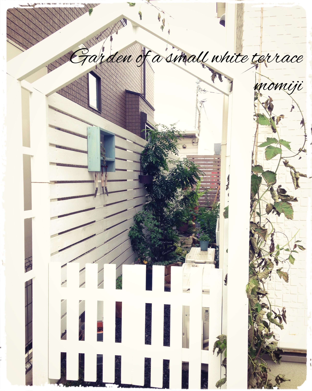 小道 木製アーチ ゲート