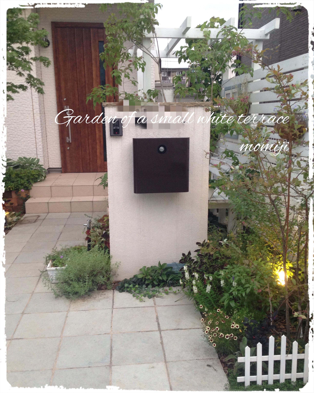 玄関アプローチ 門柱