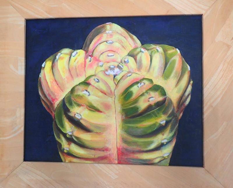 縮小:油絵:亀甲紅葉ヘキランA