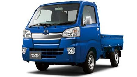 青色の軽トラック