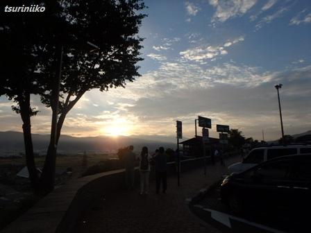 04 20150921 km 諏訪湖SA日の出