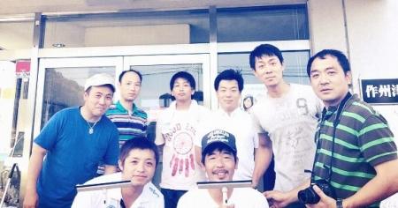 平成27年度作州津山商工会久米支部青年部カーブミラー清掃ボランティア
