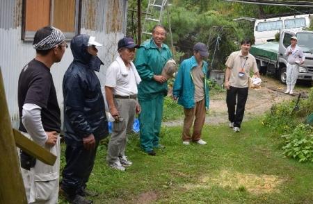平成27年度作州津山商工会久米地区工業部家屋補修ボランティア