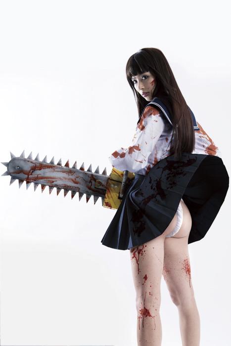 元・日テレジェニックの「だーりお」こと内田理央、お尻が見える「セクシーふんどし」で映画「血まみれスケバンチェーンソー」初主演の座をゲット1