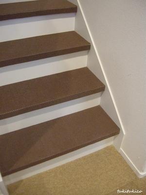 階段のカーペットを貼る2