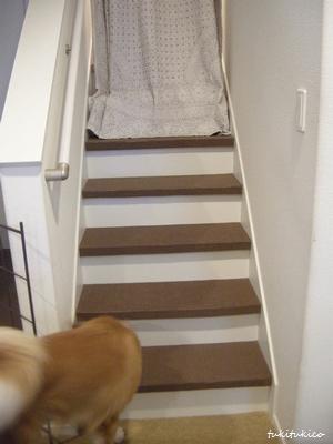 階段のカーペットを貼る4