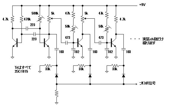 デジタルプロポの信号フォーマットエンコーダ回路図