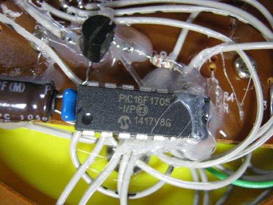 キッズドライバー「アガツマ」ハンドルの修理(電子オルゴール・音声再生換装)治療6