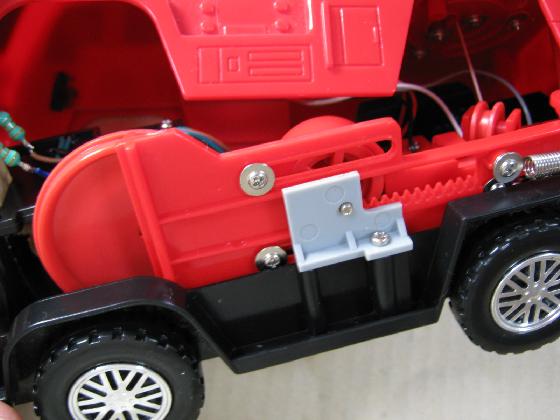 消防車MARUSHOの修理(ギア製作)診察1
