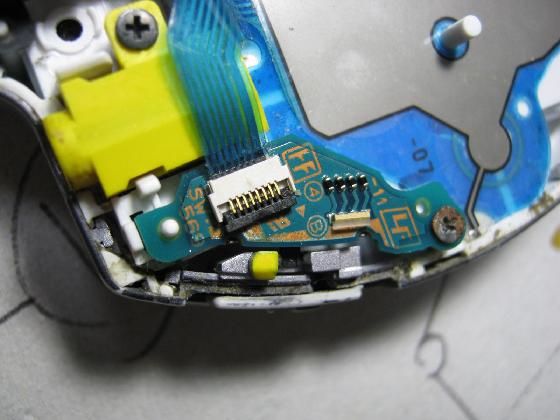 PSP-3000の修理(電源SW不良)診察1