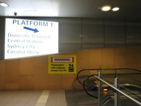 To the platform