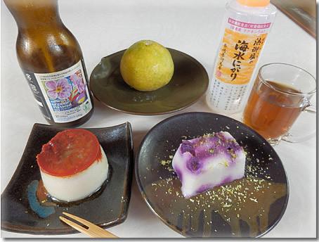素ローフード流夏バテ解消スイーツ、芋甘かん、トマト亜麻甘かん