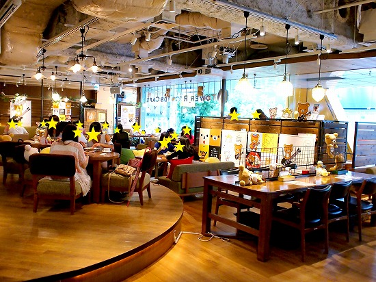 店内02@TOWER RECORDS CAFE×Rilakkuma