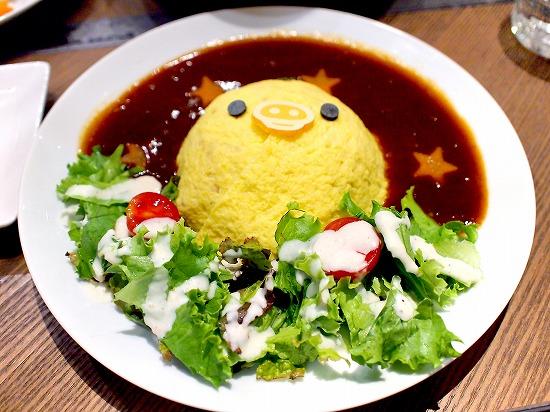 キイロイトリのふわふわオムライス02@TOWER RECORDS CAFE×Rilakkuma