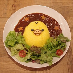 HP画像@TOWER RECORDS CAFE×Rilakkuma