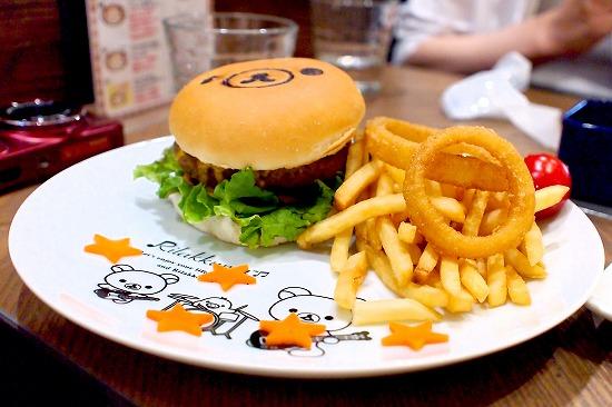リラックマのまくまくハンバーガー02@TOWER RECORDS CAFE×Rilakkuma