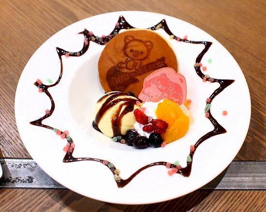 だららんパンケーキ風どら焼き01@TOWER RECORDS CAFE×Rilakkuma