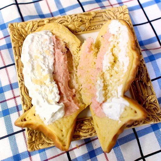 冷したい焼き いちご&ホイップ04@くりこ庵