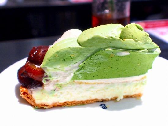 熊本県産「やまえ栗」と抹茶のタルト02@Cafe comme ca 池袋東武店 2015年09月