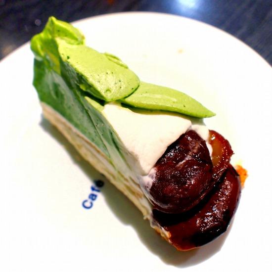 熊本県産「やまえ栗」と抹茶のタルト03@Cafe comme ca 池袋東武店 2015年09月