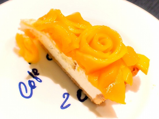 マンゴーローズのタルト03@Cafe comme ca 池袋東武店 2015年09月