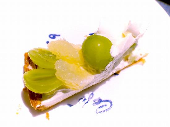 山形県産「シャインマスカット」とグレープフルーツのタルト03@Cafe comme ca(カフェ・コムサ)池袋東武店 2015年09月