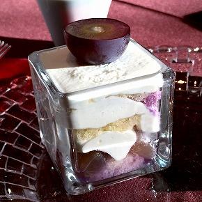 ぶどうのショートケーキ01@RISTORANTE OZIO 東京ベイコート倶楽部 2015年10月
