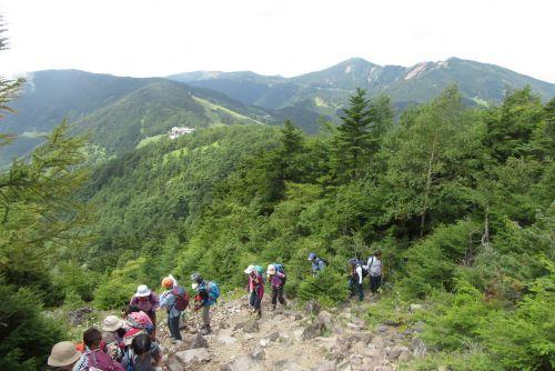 翌日登る山々