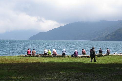 中禅寺湖畔でランチ