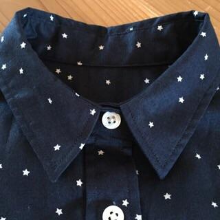 星のネイビーシャツ4