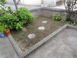 花壇の草取り20150826