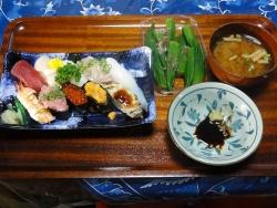 夕食は「寿司20150826