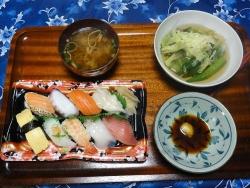 夕食の寿司