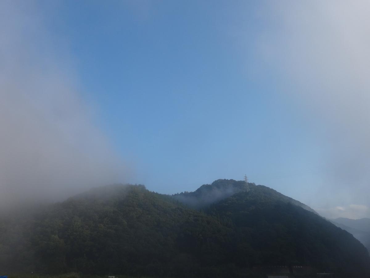 霧がはれる