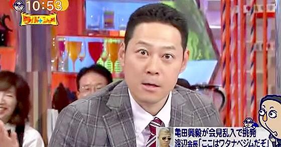 ワイドナショー画像 東野幸治 サッカーで「短パン短い」と挑発された時の様子 2015年9月6日