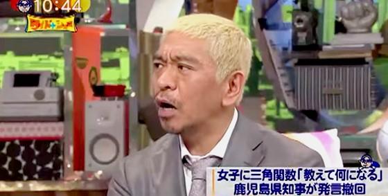 ワイドナショー画像 松本人志「発言を撤回するのもうやめませんか」 2015年9月6日
