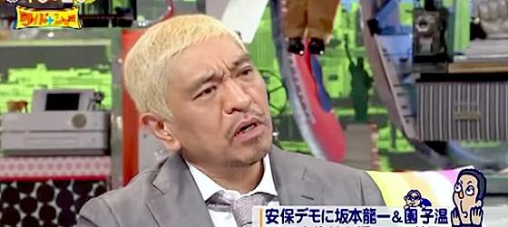 ワイドナショー画像 松本人志 安保法案反対デモは国会に向かってするのはおかしい 2015年9月6日